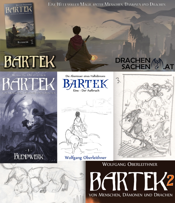 Bartek Coverentwürfe, Elemente, Skizzen