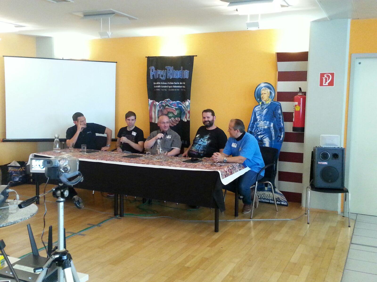 Austria Con 2016, Maddrax-Panel, Wolf Binder, Ben Calvin Hary, Oliver Fröhlich, Roman Schleifer